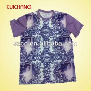 Mens Short Sleeve O-Neck Custom Print T-Shirt Factory pictures & photos