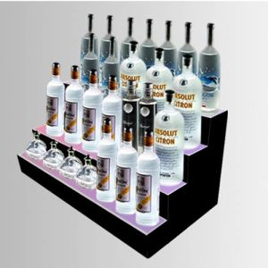 Lightened Acrylic Counter Top Display with LED for Bars Standing Wines, Pop Display Case pictures & photos