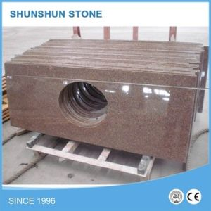 Chinese Light Emperador Brown Marble Bathroom Vanity Top pictures & photos