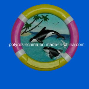 Polyresin Circle Floating Magnet with Dolphin Magnet pictures & photos