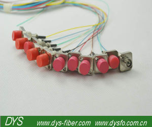 FC / Upc 12 Cores Optical Fiber Patch Cord Single Mode for CATV pictures & photos
