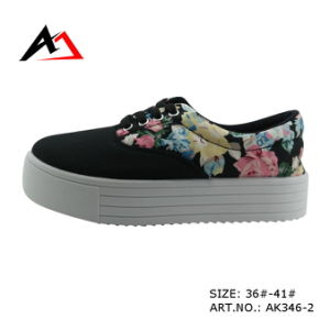 Injection Shoes Canvas Casual Shoes Comfortable for Women (AK346-2|) pictures & photos