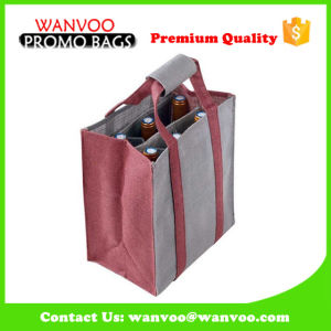 Wine Bottle Jute Bag with Six Partition pictures & photos