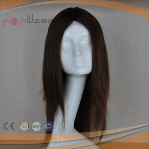 Full Auburn Color Human Hair Lace Front Medical Wig pictures & photos