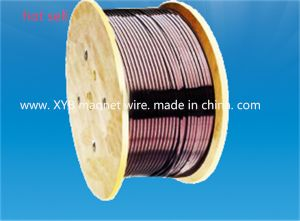 Polyimide / Fluoro 46 Combined Film Wrapped Rectangular Copper Wire pictures & photos