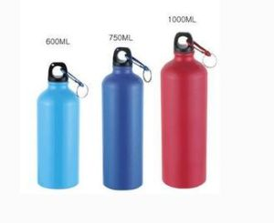 Hot Sale Colorful Sports Water Aluminium Bottle with Carabiner Lid pictures & photos