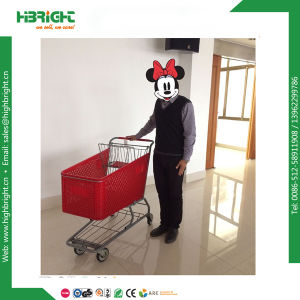 Store Plastic Shopping Trolley Cart 180L with Swivel Wheels pictures & photos