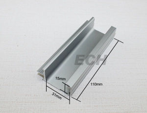 Silver Aluminum Alloy Extruded Profile (L365)