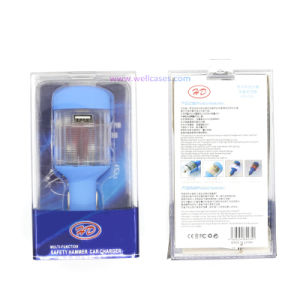 Wholesale Safety Hammer USB Adapter Car Charger with LED Light pictures & photos