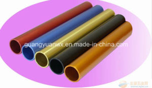 Colored Anodized Aluminum Extrusion Tubing/Tubes/Pipes pictures & photos