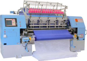 High Speed Computerized Shuttle Multi-Needle Quilting Machine pictures & photos