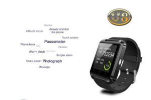 2016 Wholesale Cheap Bluetooth Pedometer U8 Smart Watch for Health Care pictures & photos