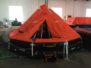 Self-Righting/Rigid Inflatable Life Raft with Round Cradle, Hru Solas/Med Certification pictures & photos
