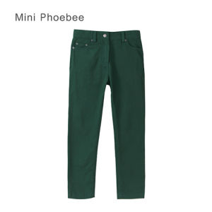 Phoebee Skinny Green Cotton Kids Girls Clothes for Spring/Autumn/Winter pictures & photos