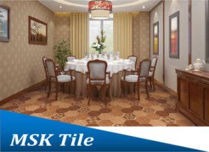 200X230 Porcelain Wood-Look Hexagon Tile Kl-07-Y1 pictures & photos