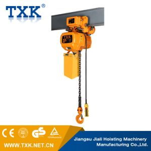 1 Ton Overload Limited Low Headroom Electric Chain Hoist with Trolley pictures & photos