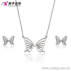 63533 Hot Sale CZ Butterfly Stainless Steel Jewelry Set pictures & photos
