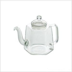 Flower Design Clear Hot Pot Set Pyrex Glass Tea Press Pot Glass Tea Pot pictures & photos