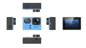 Action Camera Dual Screen Ultra Slim 4k HD 24fps 1080P 60fps 2.0′′ WiFi 2.4G Nt96660 Sport Camera pictures & photos