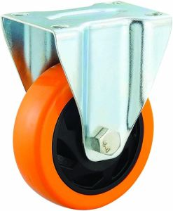3/4/5 Inch Orange Color PU Caster Wheel with Brake Industrial PU Trolley Castor pictures & photos