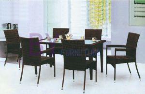 7 PCS Armrest Simple PE Rattan Patio Furniture Set pictures & photos