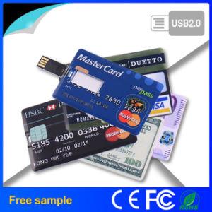 Customized Logo Credit Card USB Flash Stick pictures & photos