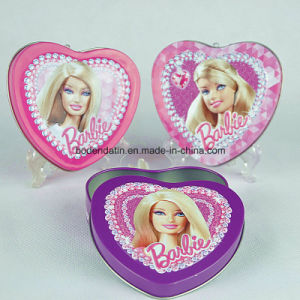 Custom Metal Tin Box for Gift with Heart Shape pictures & photos