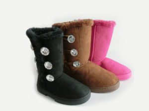 New Warm Soft Outdoor Snow Boots with Wooden Buttons pictures & photos