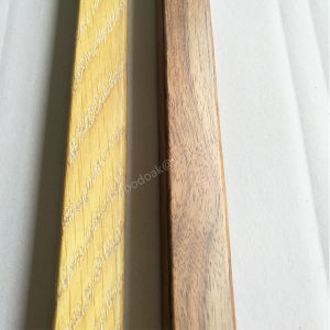 MDF with Wood Veneer Threshold /End Cap / Carpet Reducer Wood Moulding pictures & photos