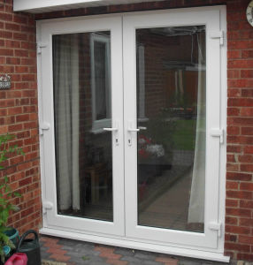 Custom PVC Frame Hurricane Impact French Doors pictures & photos