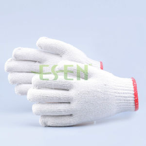 2017 Hot Selling White 100% Safety Working Cotton Gloves pictures & photos