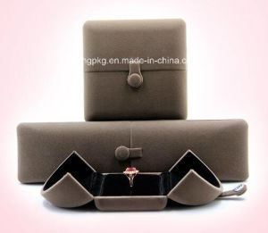 Double Open Velvet Jewelry Box Gift Box High End Factory Price pictures & photos
