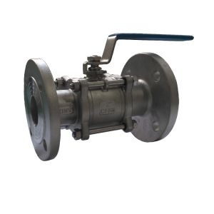 3PC Type Ball Valve with Flange (with high mounting pad) pictures & photos