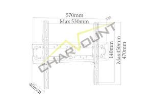 Metal TV Mount with Max Vesa 400X400 mm (CT-PLB-711) pictures & photos