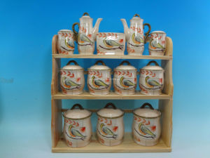 Ceramic 12PCS Spice Set with Wooden/Metal Stand pictures & photos