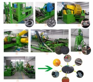 Scrap Tire Recycling Equipment/Waste Tire Recycling System pictures & photos