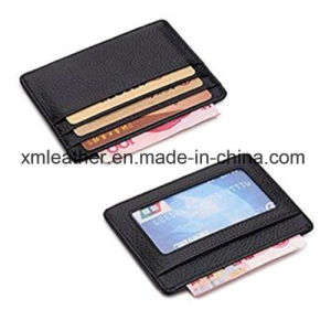 Black Leather ID Card Holder Business Card Case pictures & photos