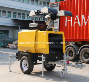 Industrial Light Tower with 4000W Lamps, Diesel Lighting Tower pictures & photos