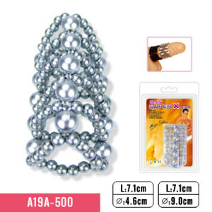 Cock Rings with Smooth Sliver Beads and 5 Rows Massager pictures & photos