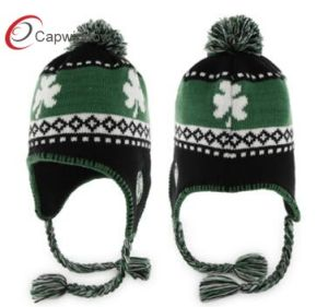 Customized Fashion Jacquard Beanie Hat 17105 pictures & photos