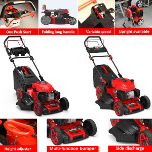 "Newest 20"" 4 in 1 Professional Electric Start Self-Propelled Lawn Mower pictures & photos"