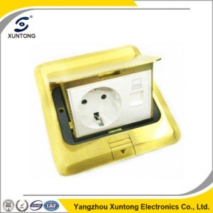 Xuntong Universal Multifunctional Outlet Floor Socket Brass Socket Box pictures & photos