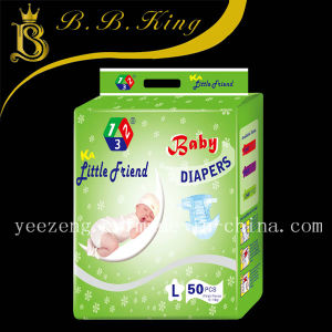 Grade A/B Super Absorbent Cotton Baby Diaper Supplier in China pictures & photos