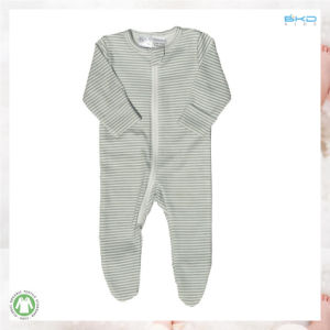 100% Soft Organic Baby Apparel Stripe Printing Babies Playsuit pictures & photos