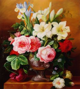Custom Printed Type Beautiful Flowers Canvas Print Model No: Hx-4-055 pictures & photos
