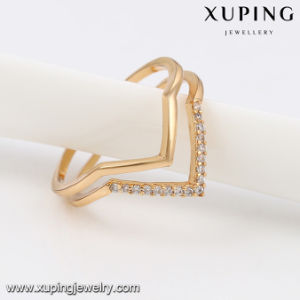 13788 Fashion Smart CZ Open Ring in Gold Plated pictures & photos