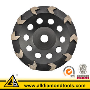 Vacuum Brazed Concrete Floor Grinding Cup Wheels Diamond Tools pictures & photos
