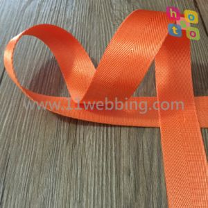 Orange Color Herringbone Imitation Nylon Polyester Webbing for Bag Accessories pictures & photos