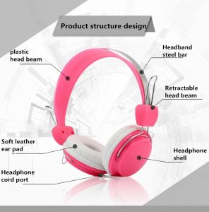 Outdoor Noise Cancellation Wire 3.5mm Stereo Clip on Headphones pictures & photos