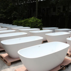 Custom Made Polymer Stone Freestanding Black Bath Tub From Kingkonree pictures & photos